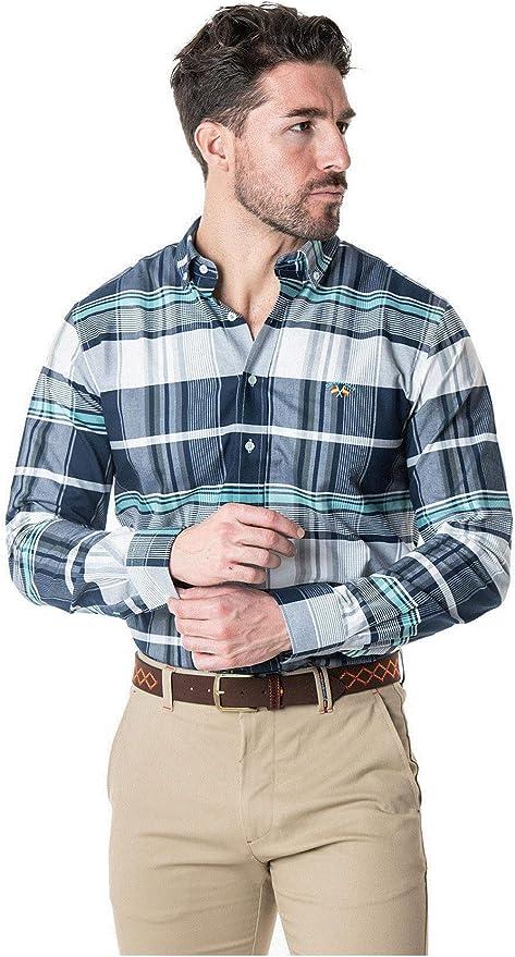 SPAGNOLO PAUL & ESTHER Camisa con Boton Oxford Slim Polo 1123 ...