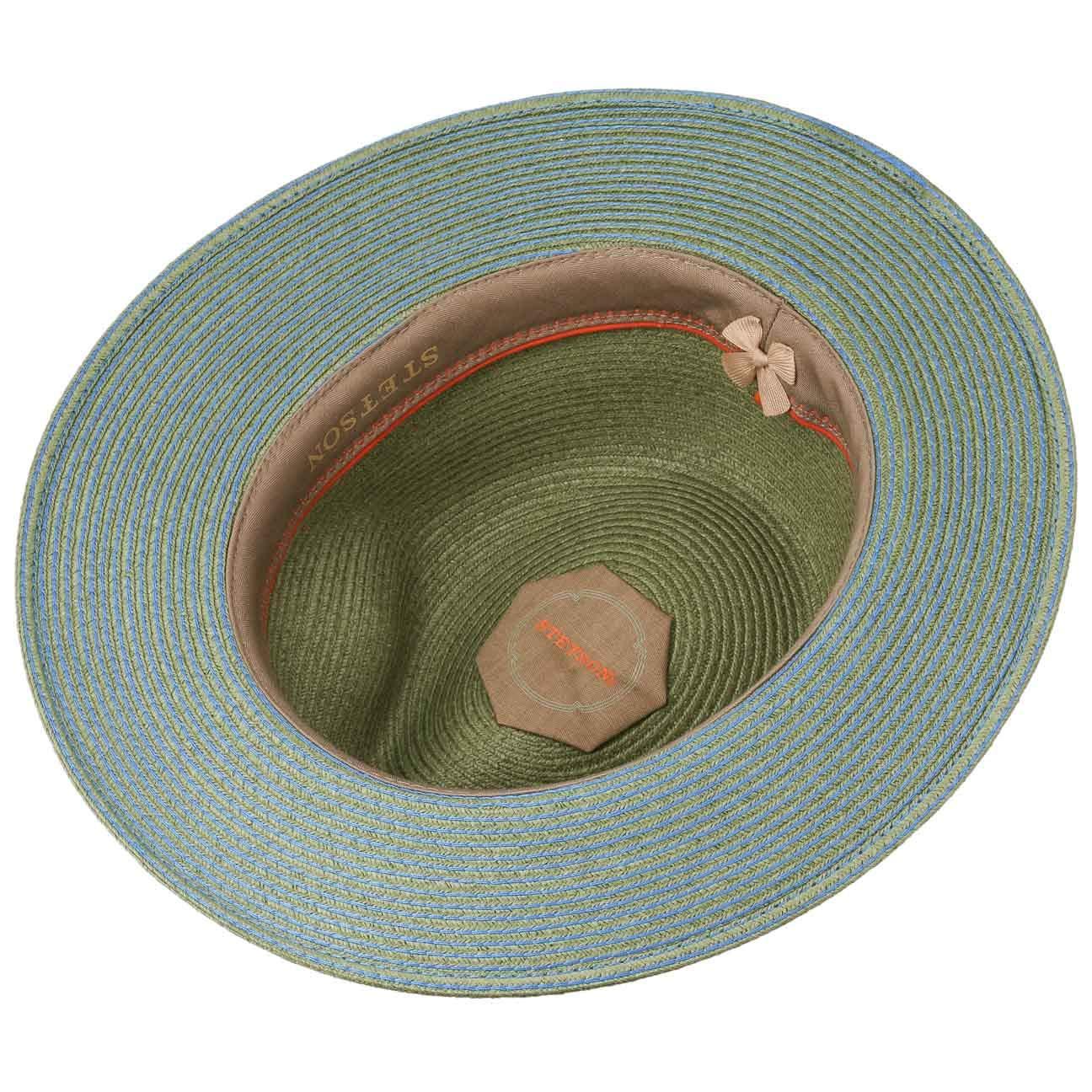 de Paja Sol con Banda Grosgrain Primavera//Verano Stetson Sombrero Monticello Toyo Hombre