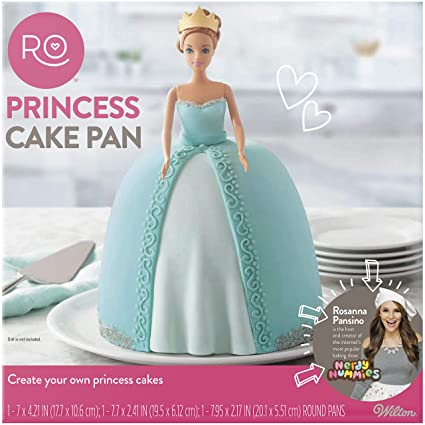 03728f26f7 Amazon.com: ROSANNA PANSINO by Wilton 3-Piece Princess Cake Pan Set:  Kitchen & Dining