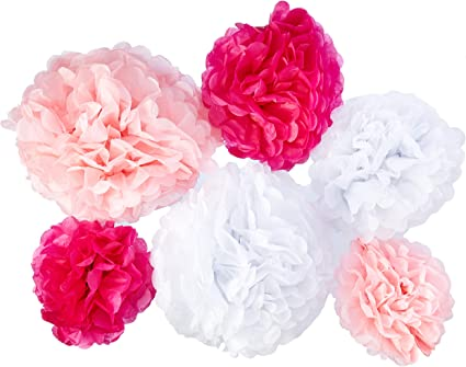 Lime Set of 20 Tissue Paper Pompoms Hanging Flower Balls Wedding /& Party Decoration 12 inches