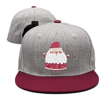 aa5e1c99f69 Unisex Adult Christmas Santa Costume Custom Adjustable Trucker Cap ...