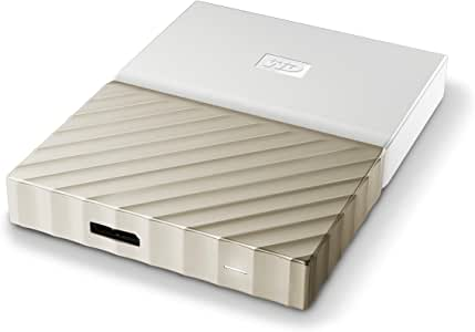 WD 2 TB My Passport Ultra Portable Hard Drive - White and Gold