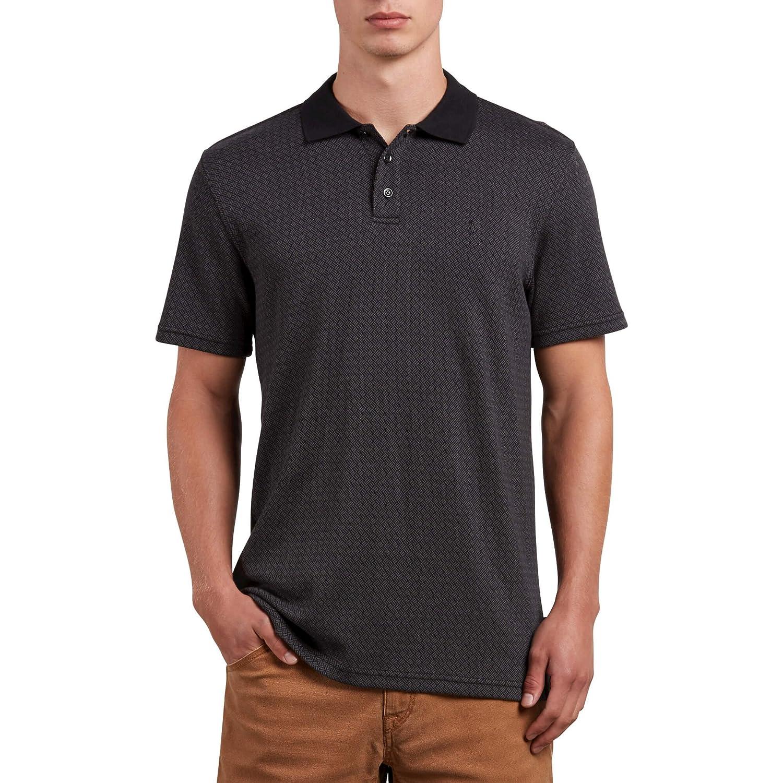 Volcom Hombres A0121804 Manga Corta Camisa Polo - Negro - X-Small ...