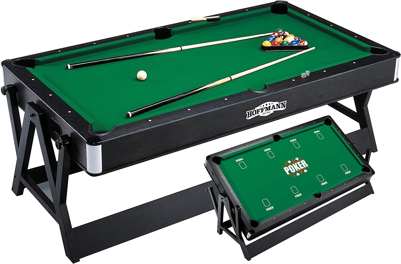 4 in 1 Schneller Umbau 100 kg 220V-Gebl/äse Pool-Billard Automaten Hoffmann Multifunktionstisch Las Vegas 214x120 cm Poker Airhockey Inklusive Zubeh/ör Roulette