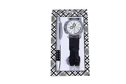 DISOK - Set De Reloj Y Bolígrafo - Detalles y Regalos Bodas Relojes para Hombres Baratos de Regalo, Cumpleaños, Fiestas