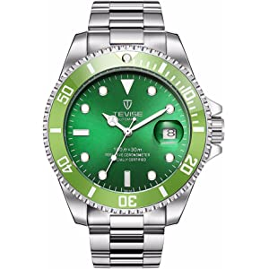 Swiss Luminous Submariner Watch Mens Automatic Mechanical Watch Fashion Stainless Steel Waterproof Watch