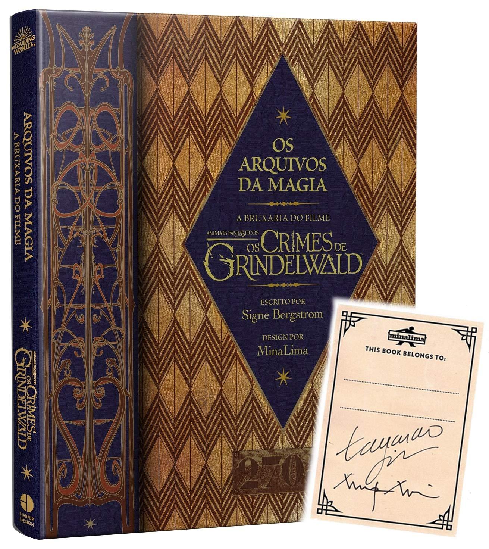 Os Arquivos da Magia – A Bruxaria do Filme Animais Fantásticos: Os Crimes de Grindelwald. + card adesivo