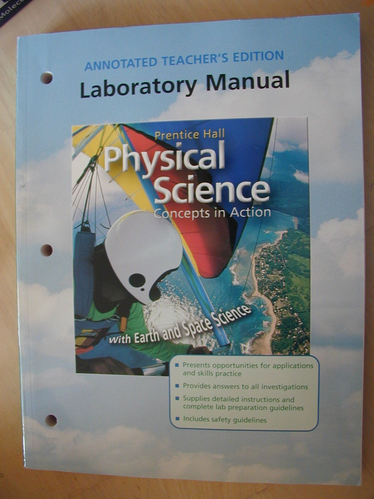 Worksheets Prentice Hall Physical Science Worksheets prentice hall physical science concepts in action with earth and space laboratory manual annotated teachers editi