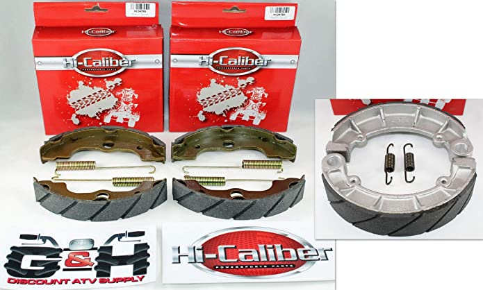 QUALITY WATER GROOVED REAR BRAKE SHOES /& SPRINGS for the 2001-2014 Honda TRX 500 Rubicon ATVs