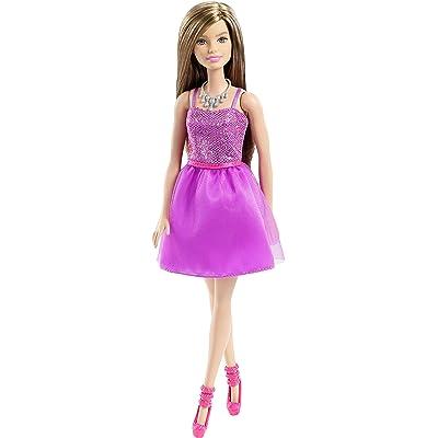 Barbie Glitz Doll, Purple Dress: Toys & Games