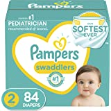 Pampers Swaddlers Disposable Diapers Size 2, 84 Count, Super Pack (Packaging and Prints May Vary)