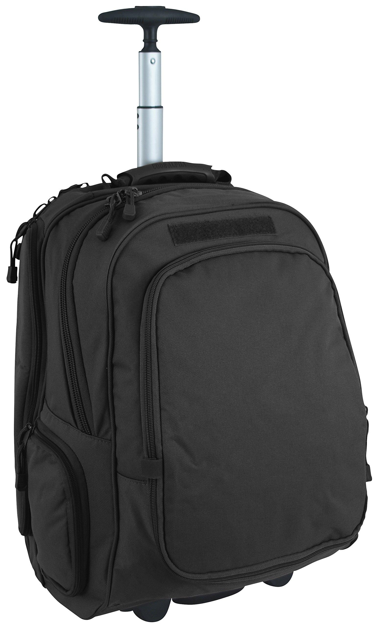 Mercury Wheeled Case 15 Laptop Backpack, Black, One Size by MERCURY