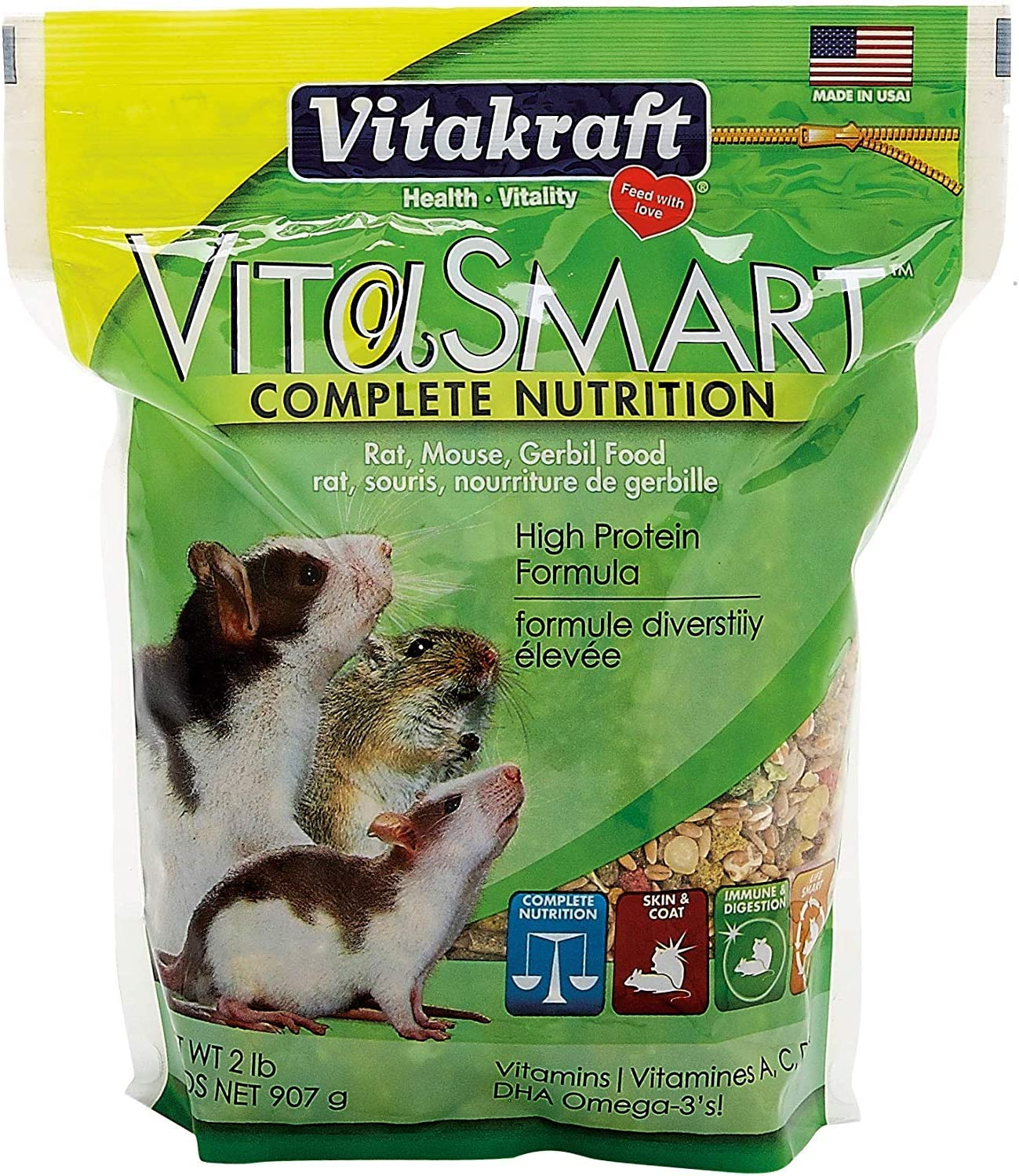 Sunseed 2 lbs Vita Food for Rat/Mouse/Gerbil [Set of 2]