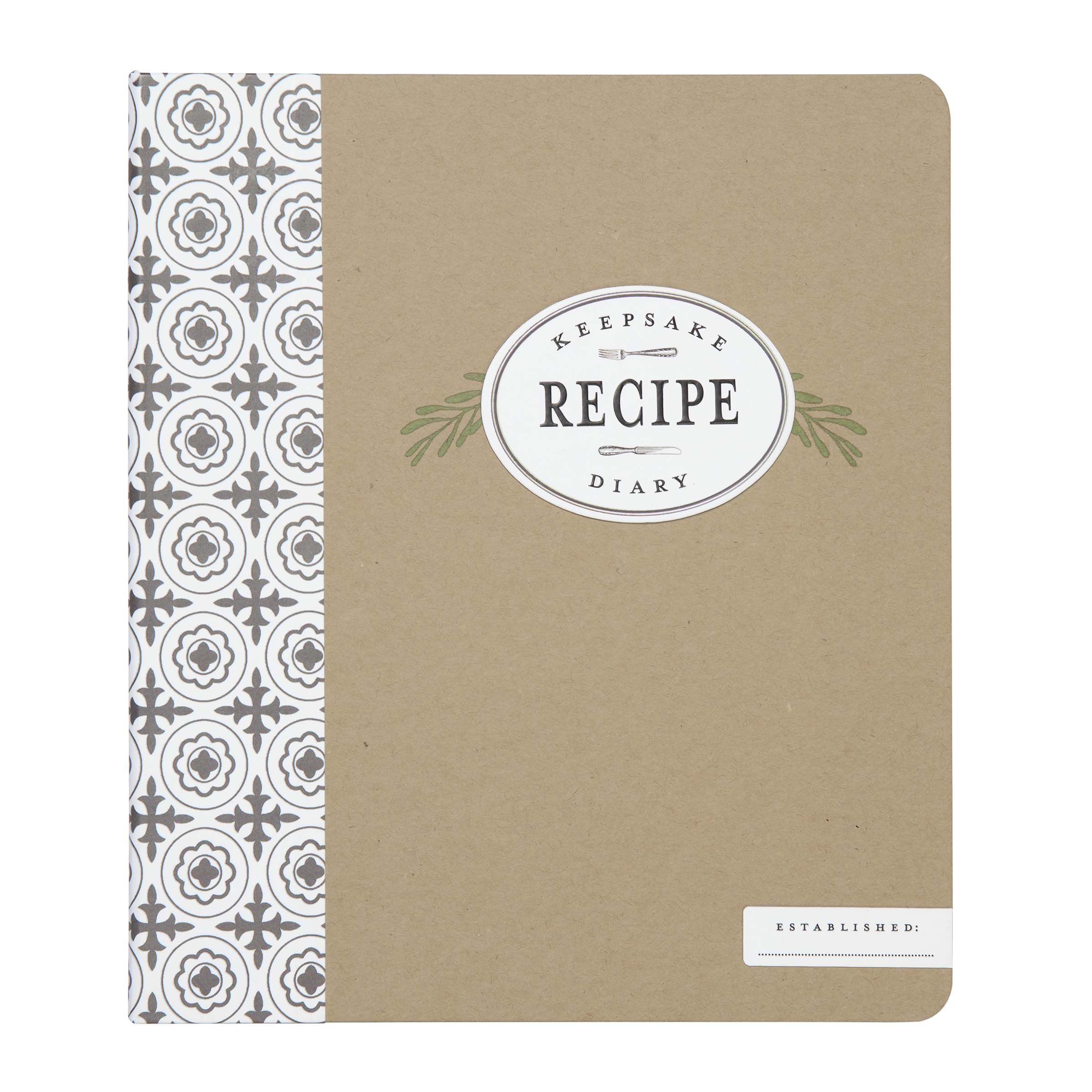 C.R. Gibson Keepsake Recipe Diary, Binder With 12 Divider Tabs, 40 Journal & Recipe Pages, Includes 2 Pages Of Stickers, Measures 8.25'' W x 9.5'' H x 1.75'' D - Farmhouse