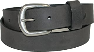 product image for Boston Leather Men's Big & Tall Oil Tanned Pull Up Leather Removable Buckle Belt