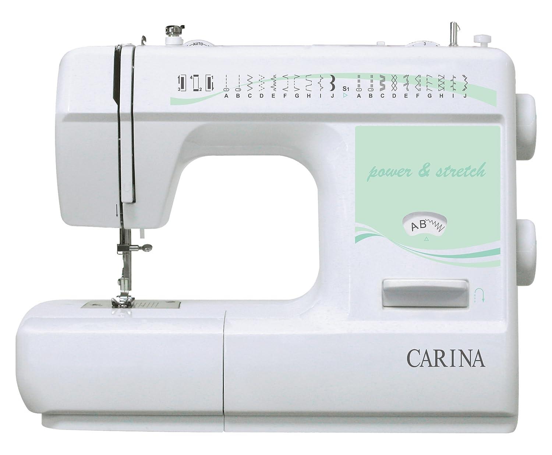 Carina P&S - Máquina de Coser, Color Blanco y Verde: Amazon.es: Hogar