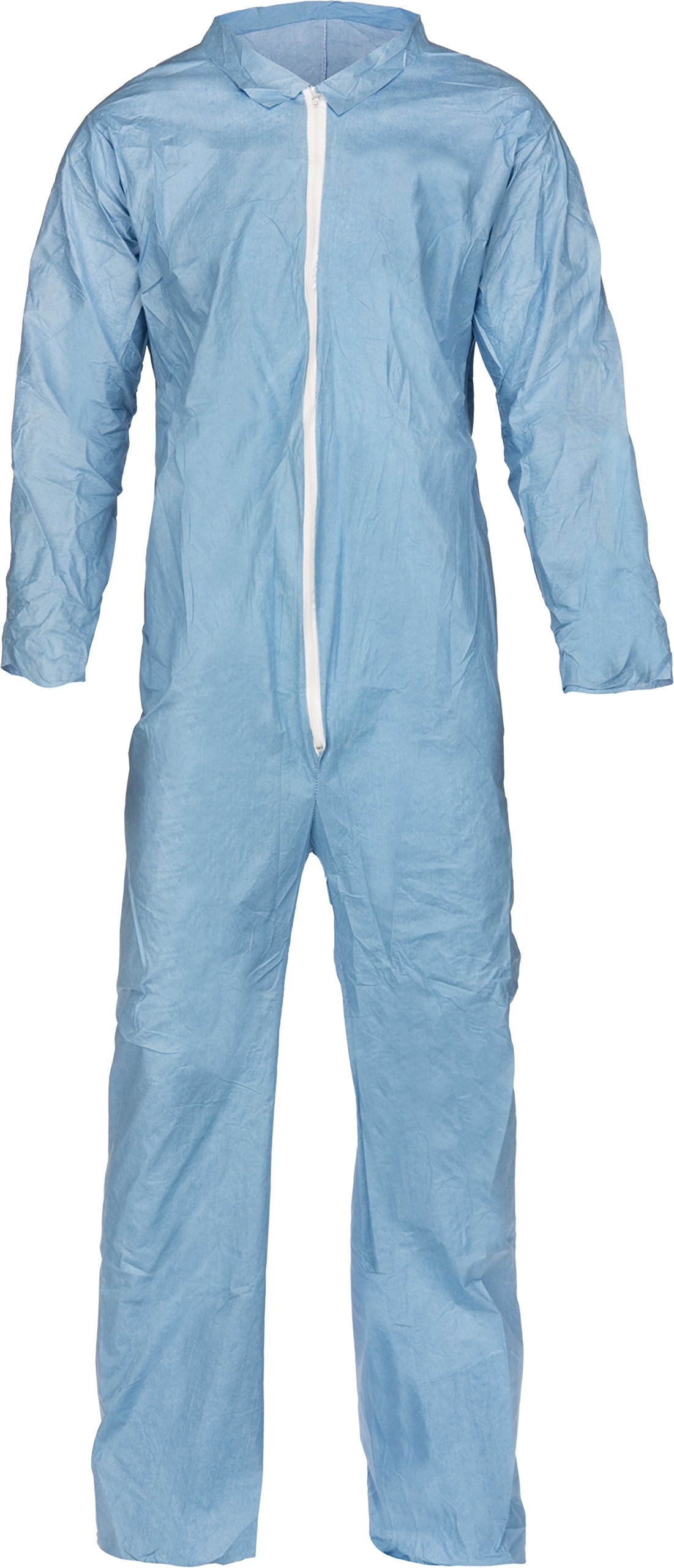 Lakeland Pyrolon Plus 2 Flame-Resistant Coverall, Disposable, Open Cuff, 3X-Large, Blue (Case of 25)