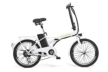 0844db471b0 Bicicleta ELECTRICA Plegable Mod. Book BATERIA Ion Litio 36V10AH (Blanco):  Amazon.es: Deportes y aire libre