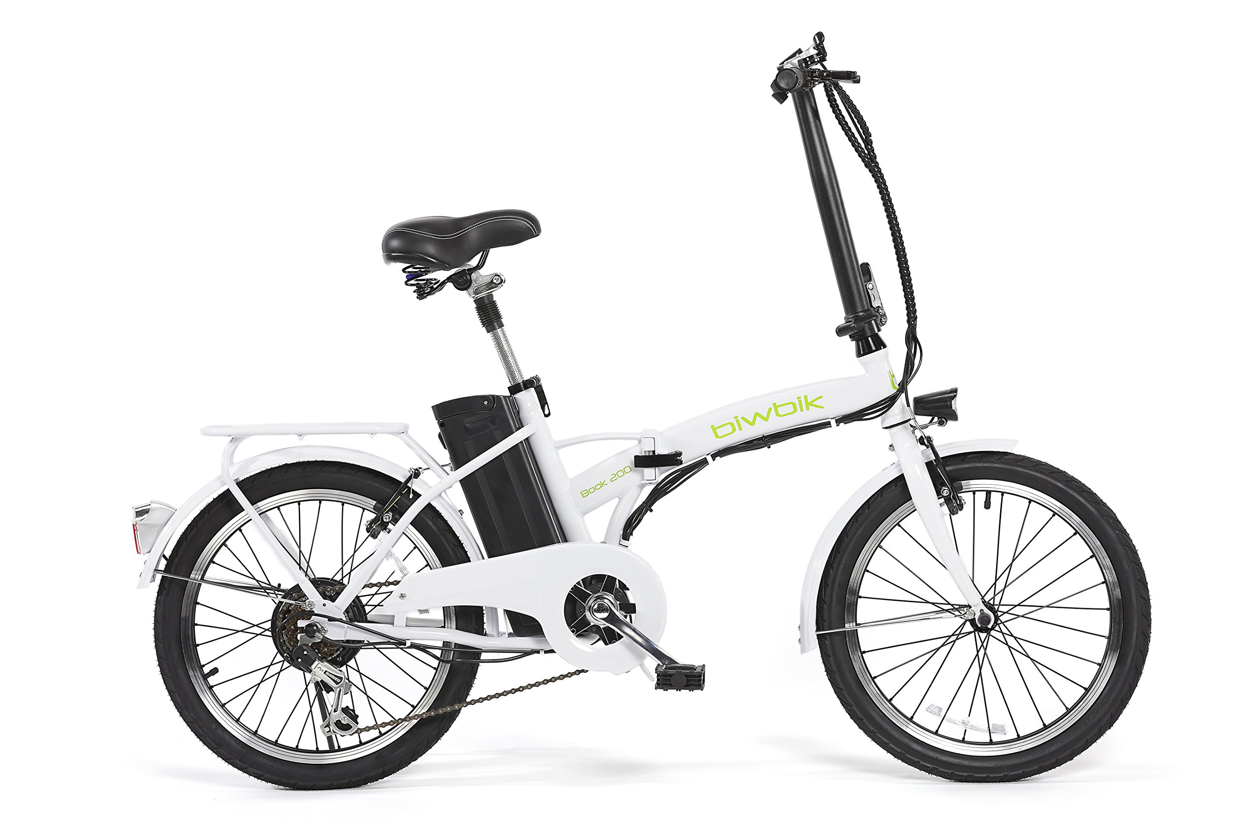 Bicicleta ELECTRICA Plegable Mod. Book BATERIA Ion Litio 36V10AH (Blanco) product image