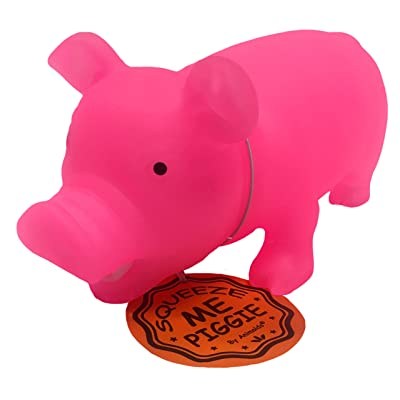 Glow in The Dark Squeeze Me and Oink Piggie by Animolds Size 8 inch Different Colors Great for Kids (Pink): Office Products