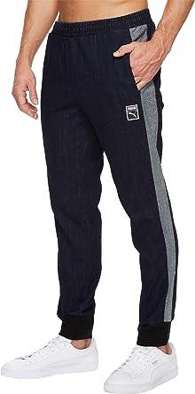 63e896ca3ea6 ... PUMA Men s Classics + T7 Denim Pants Peacoat Denim Blue Medium 29.5  Puma  Mens Essential Sweat Pants Navy XL Adult