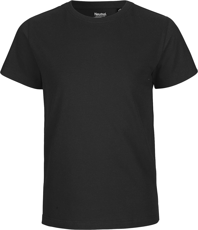 Fairtrade Oeko-Tex und Ecolabel Zertifiziert Neutral- Kids Short Sleeved Kids Short Sleeved T-Shirt 100/% Bio-Baumwolle