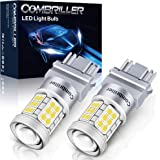 Combriller 3157 LED Bulb White 6000K, 3056 3156 3057 4157 led bulb with Projector Replacement for led reverse lights turn sig