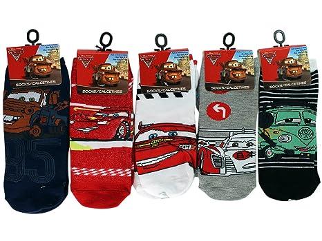 3 Pair Assorted Disney Cars Socks (Size 6-8) - Kids Socks