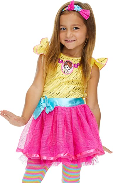 Amazon Com Disney Fancy Nancy Costume Dress Leggings Headband Clothing