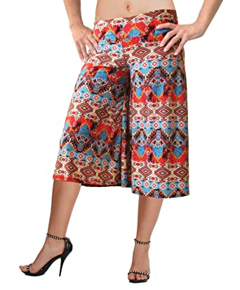 d251816c1abeb Flowy Soft Gaucho Pants Made in The USA 25 Colors Available - Capris (Small,