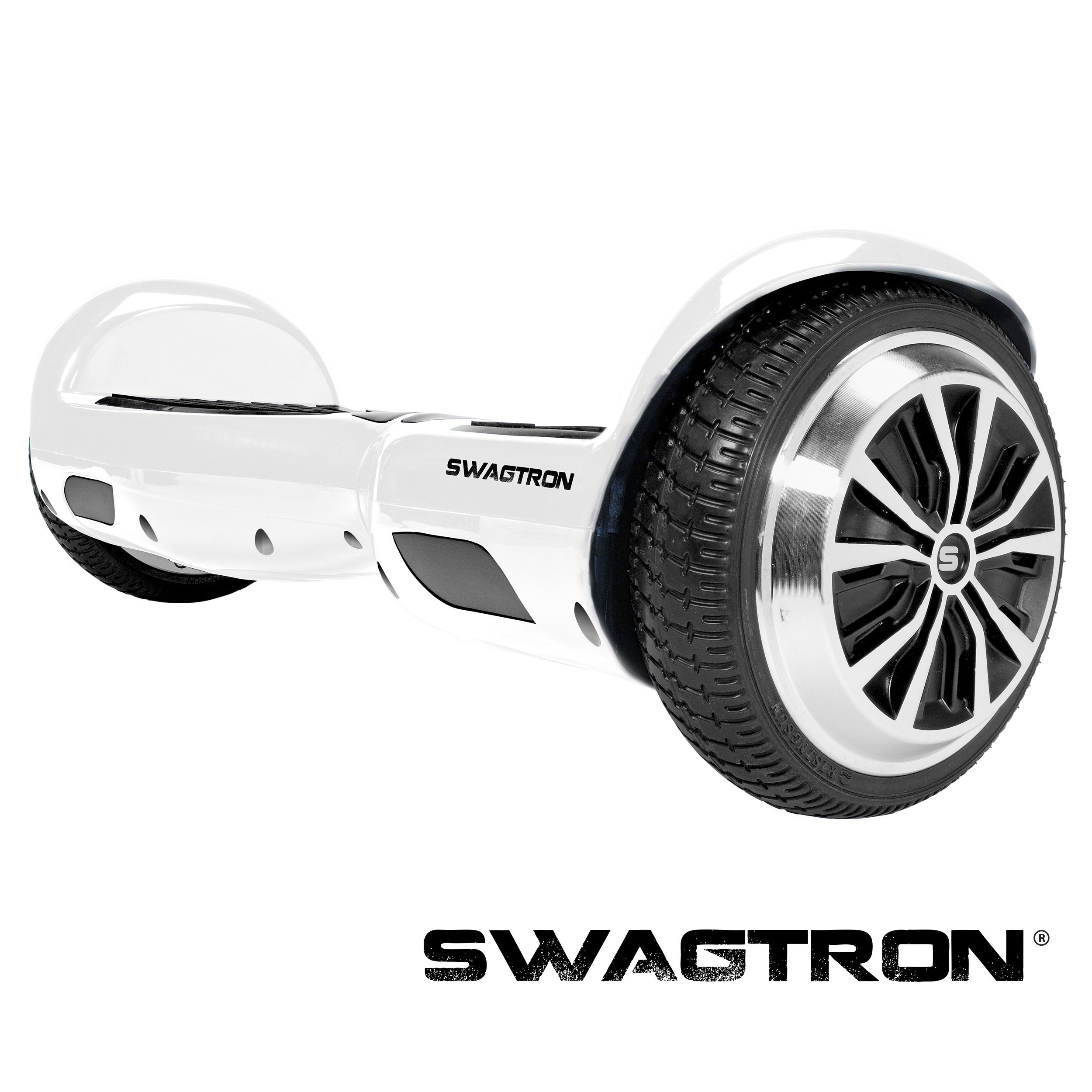 SWAGTRON T1 - UL 2272 Certified Hoverboard - Electric Self-Balancing Scooter – Your swag personal transporter awaits you. (White)