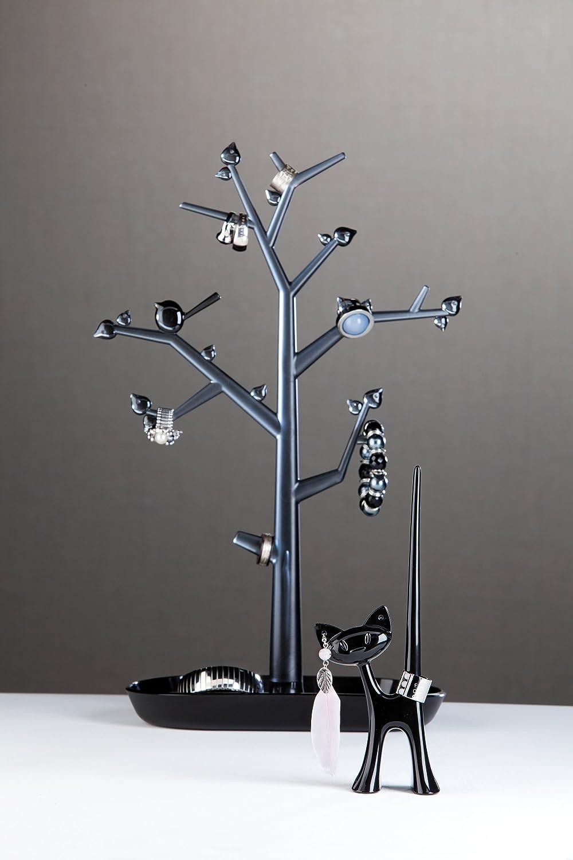 noir avec anthracite transparent L koziol arbre /à Bijoux 12,8 x 27,6 x 43,8 cm thermoplastique pi:p