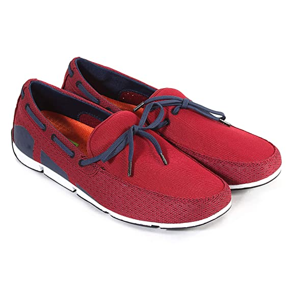 Swims Breeze Lace, Mocassins Homme - Rouge - Red (Deep Red/Navy/White), 45