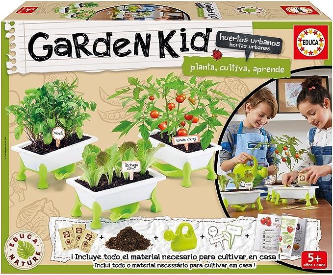 Educa Borrás- Garden Kid Tomate, Lechuga y Rúcula, 2 x 100 Piezas ...