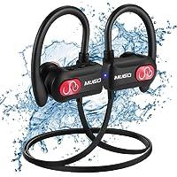 Écouteur Bluetooth Sport, IPX7 Étanche Ecouteur sans Fil HiFi Stéréo Casque Bluetooth avec Microphone Anti-Bruit Léger Écouteurs Intra Auriculaire pour Course/Gym/Jogging, 10 Heures Lecteur Musique