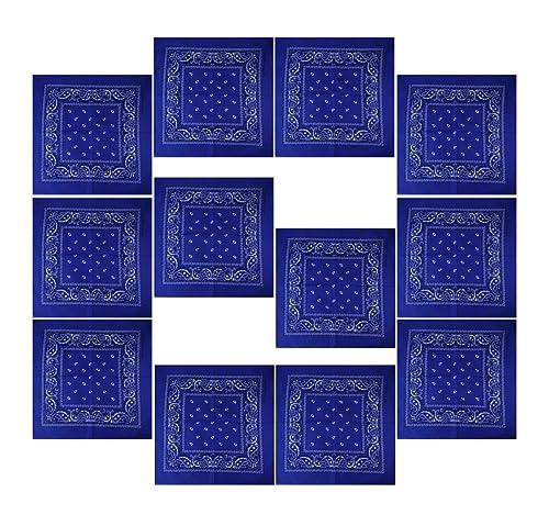 Confezione Da 12 Bandana con originale Reticolo di Paisley Colore di a vostra scelta
