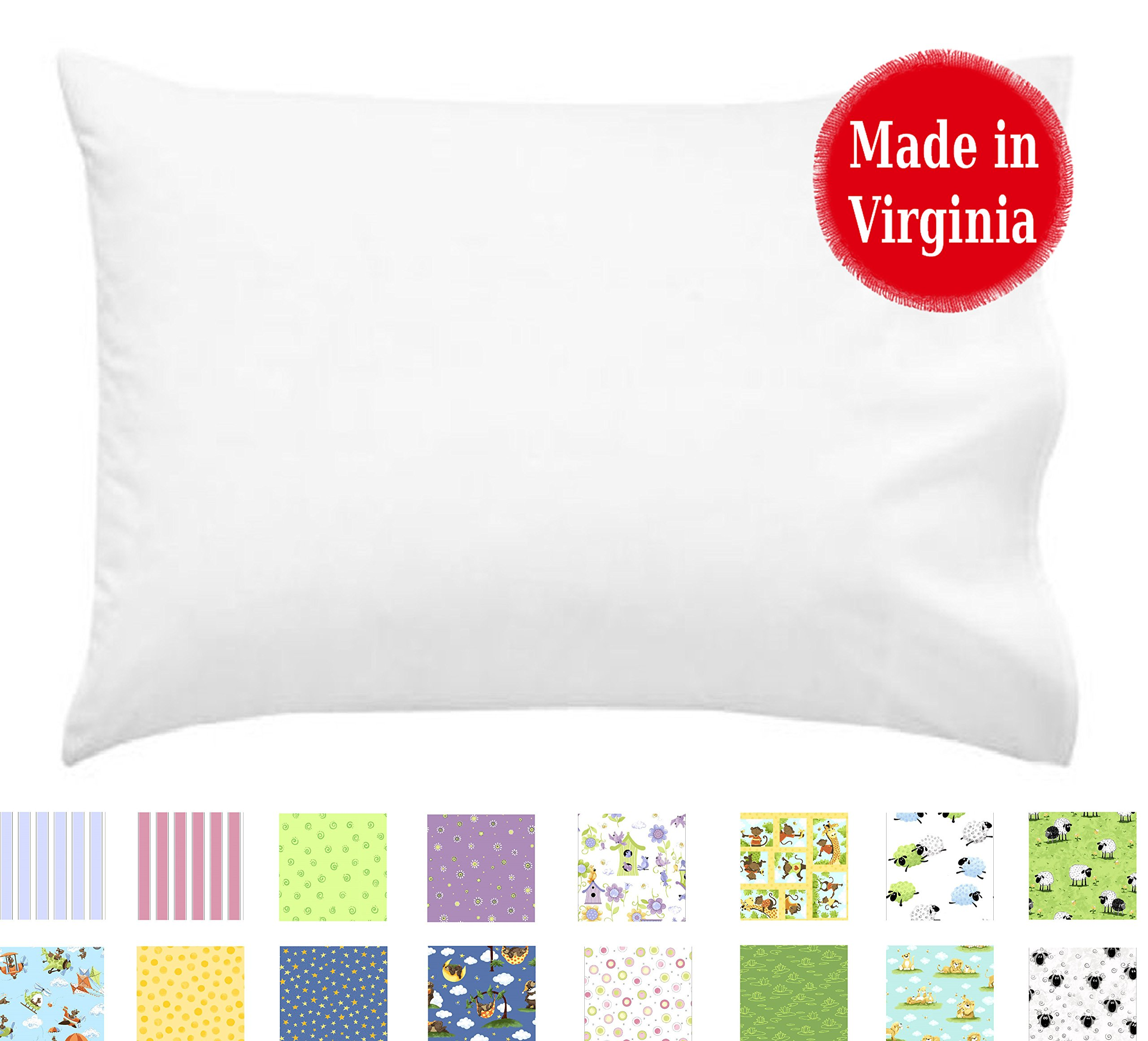 A Little Pillow Company Youth Pillowcase (17'' x 24'') 100% Cotton Percale - Regular/Open End Style - Made in Virginia by (White)
