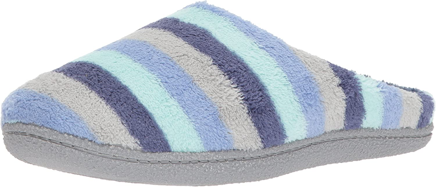Dearfoams womens Leslie Quilted Terry Clog