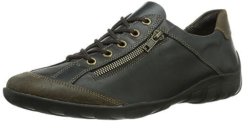 Dorndorf Remonte - Zapatos de cordones de cuero para mujer, color azul, talla 45 Remonte