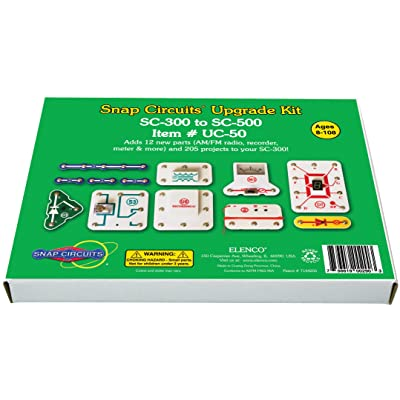 Snap Circuits UC-50 Electronics Exploration Upgrade Kit | SC-300 to SC-500 | Upgrade Classic to Pro: Toys & Games