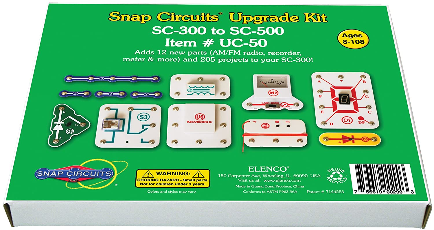 Snap Circuits Uc 50 Upgrade Kit Sc 300 To 500 Toys Details About Create Your Own Fm Transistor Circuit Board Radio Games
