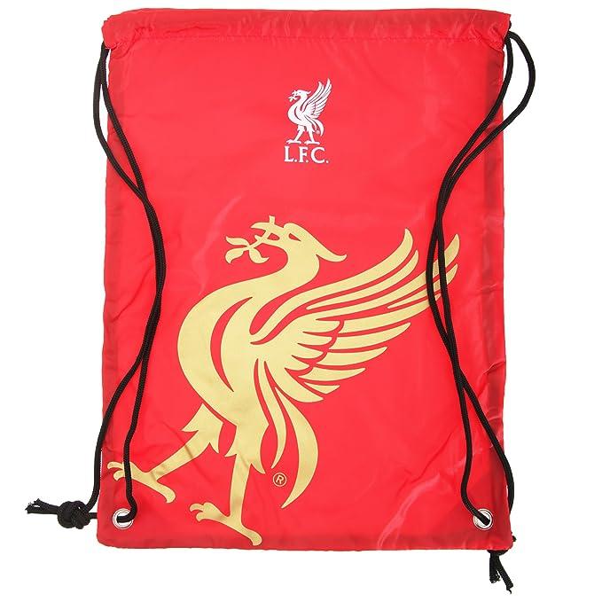 Liverpool FC - Mochila/bolsa saco de cuerdas oficial (Talla Única/Rojo/