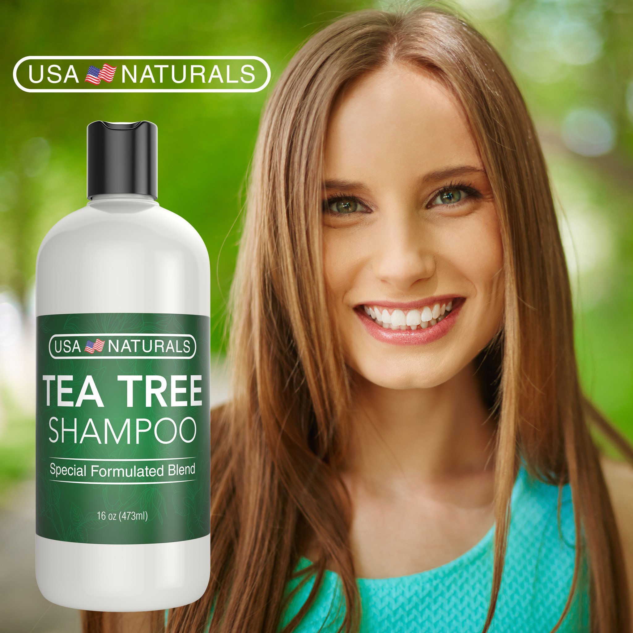 Tea Tree Oil Shampoo Sulfate-Free: Revitalize Hair, Combat Hair Loss and Cleanse Scalp with Naturally-Sourced Ingredients - Pure Tea Tree Oil, Organic Argan Oil, Organic Green Tea (Tea Tree Shampoo) by USA Naturals (Image #9)