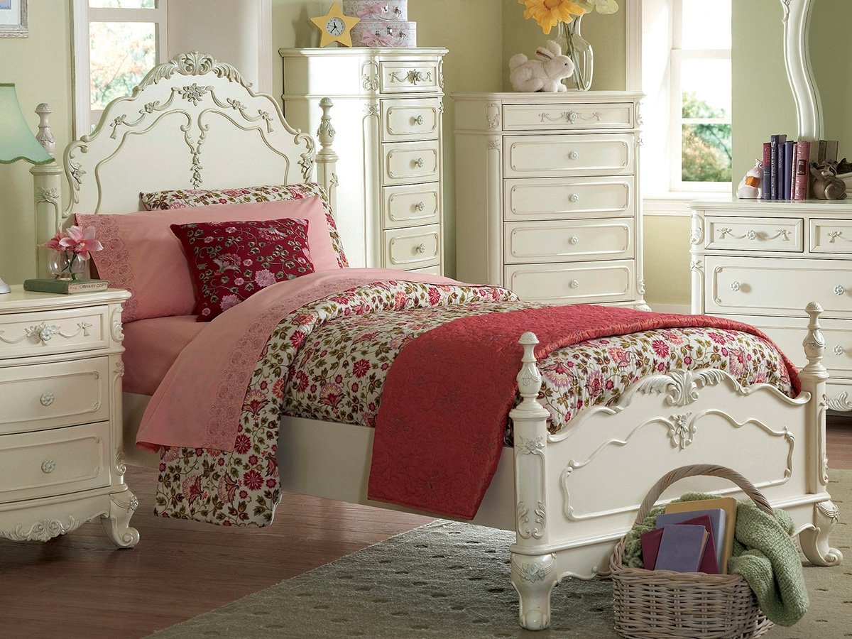 Cinderella Twin Bed by Homelegance in White by Home Elegance (Image #1)