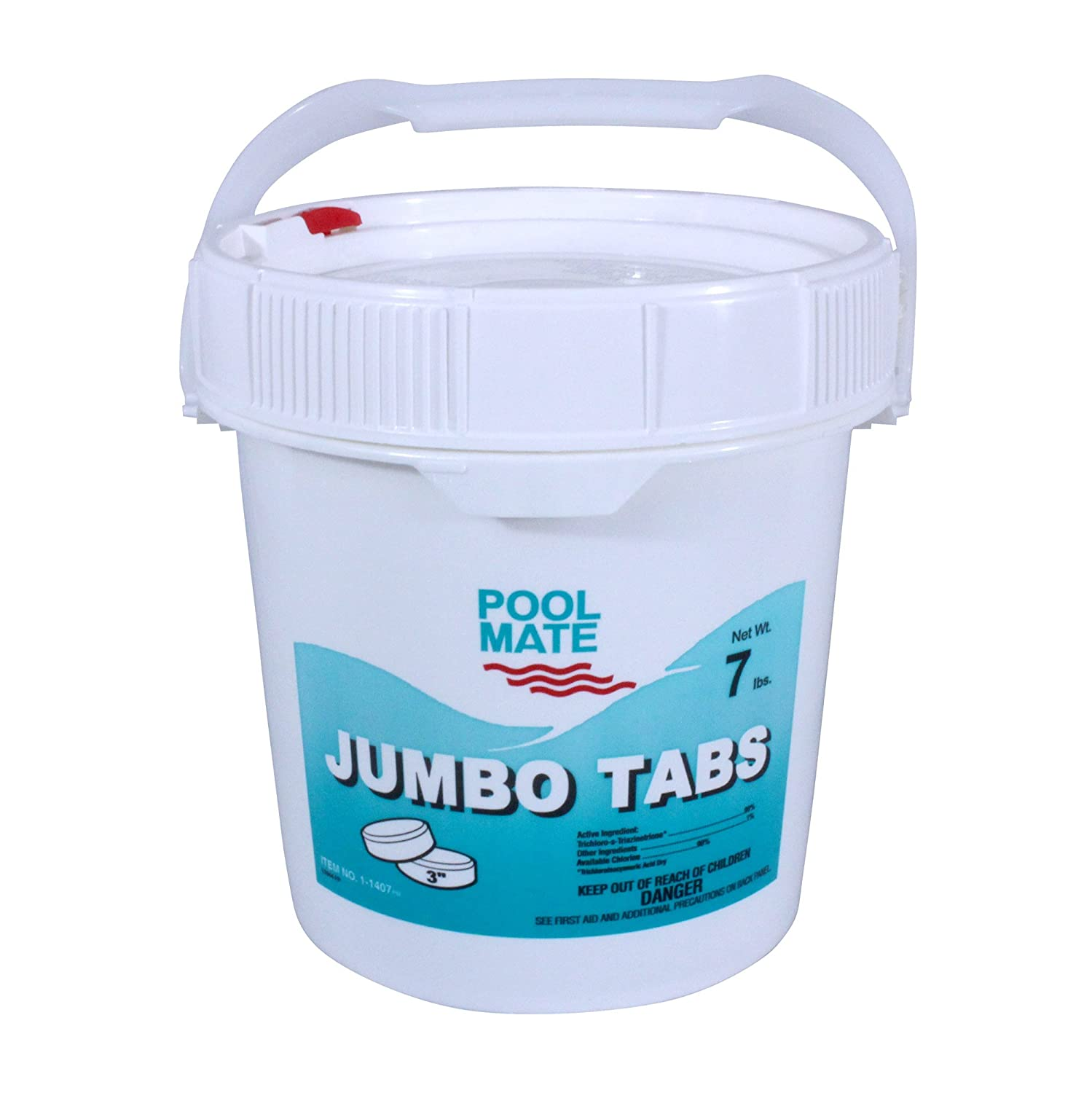 Pool Mate 1-1407 Jumbo 3-Inch Chlorine Tablets, 7-Pound Robelle Industries