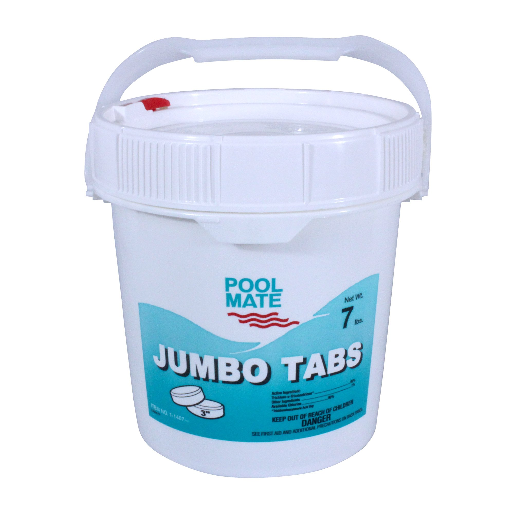 Pool Mate 1-1407 Jumbo 3-Inch Chlorine Tablets, 7-Pound by Pool Mate