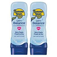 Banana Boat Dry Balance Broad Spectrum Sunscreen Lotion, SPF 50, 6 oz - Twin Pack
