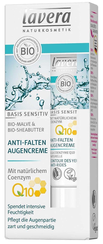 lavera Anti-Falten Augencreme Q10 ∙ Spendet intensive Feuchtigkeit ∙ Bio Malve & Sheabutter ∙ vegan ✔ Bio Pflanzenwirkstoffe ✔ Naturkosmetik ✔ Natural & innovative 15 ml 522845