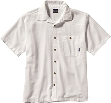 Patagonia - Camisa para Hombre (algodón biológico, Talla M y S), Color Blanco