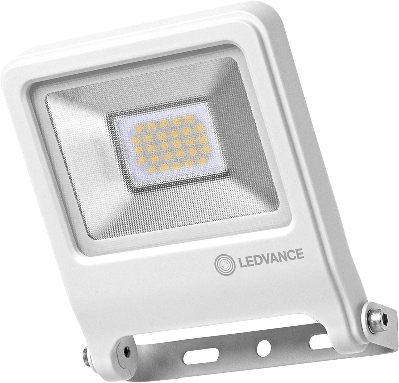 LEDVANCE Endura Flood LED 20 Watts Projecteur Ext/érieur 1600 Lumens Etanche IP65 Blanc Chaud 3000K Blanc